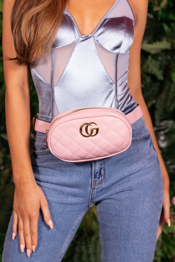 Lily Bum Bag Belt in Pink