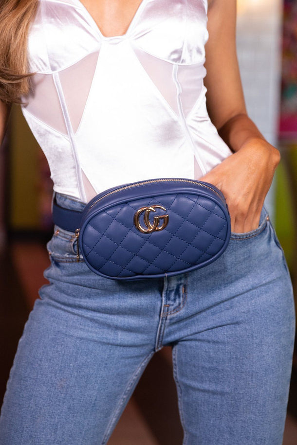 Lily Navy Bum Bag Belt