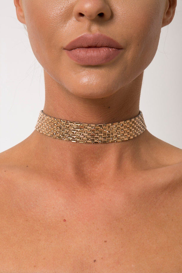 Lucia Diamond Choker in Rosegold