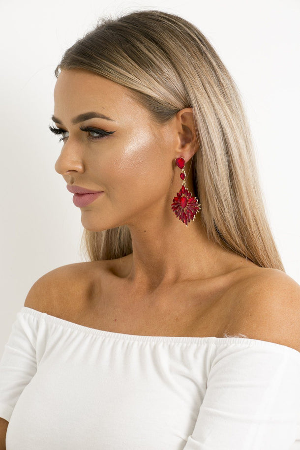 Mila Earrings in Red