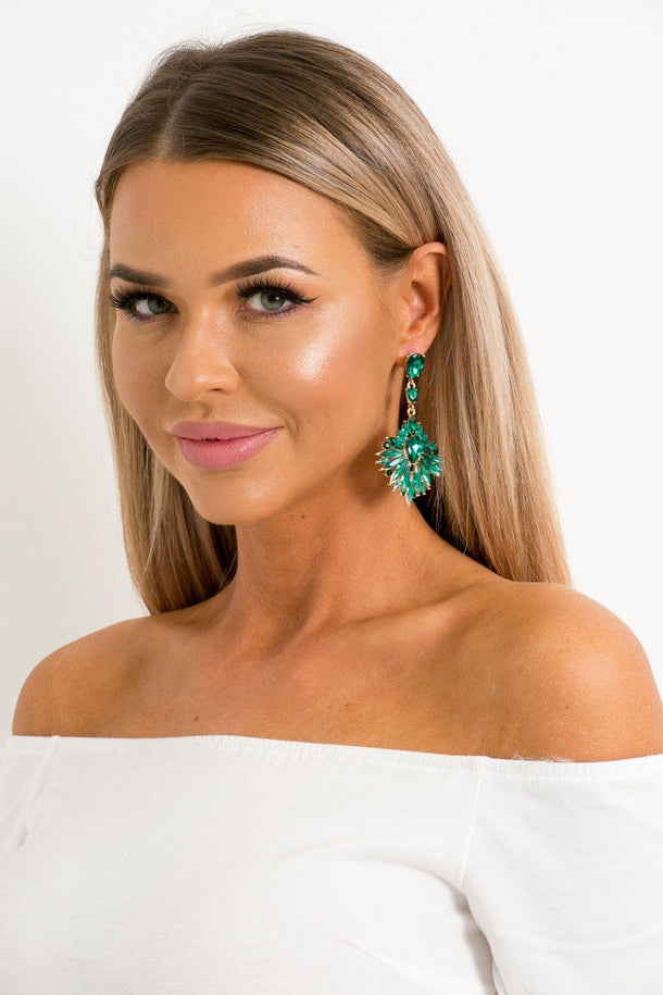 Mila Earrings in Green