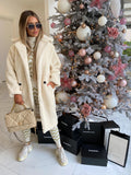 Fara Teddy Coat in Ecru White