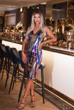 Gracie Sequin Midi Dress