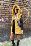 Jade Hooded Gilet in Yellow