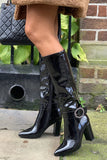 Klaudia Brooch Knee Boots