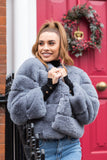 Lani Faux Fur Jacket in Grey