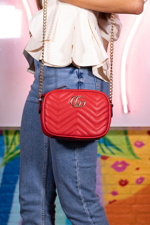 Lily Red Cross Body Bag