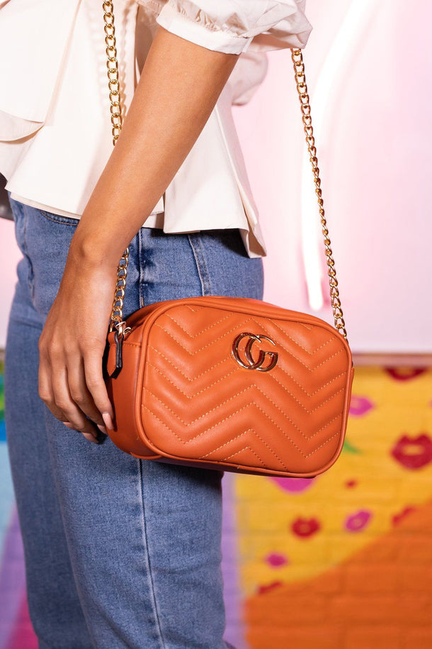 Lily Orange Cross Body Bag