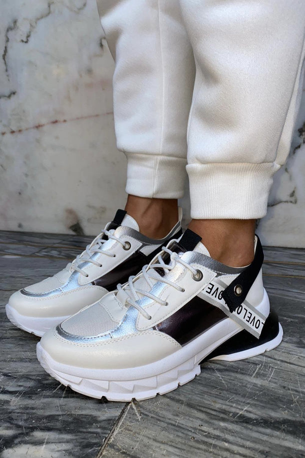 Laura Love Trainer in White and Black