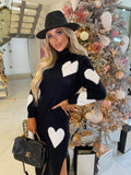 Piper Knit Dress in Black & White