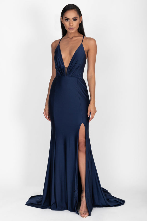 Natalia Gown in Navy