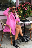 Charlotte Teddy Coat in Pink