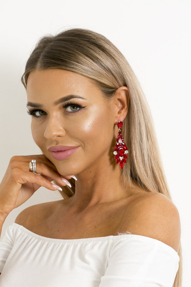 Zoe Earring in Red
