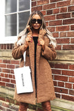 Charlotte Teddy Coat in Brown