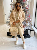 Fara Teddy Coat in Beige