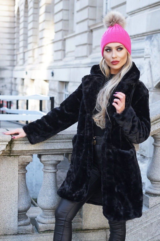 Zara Black Faux Fur Jacket