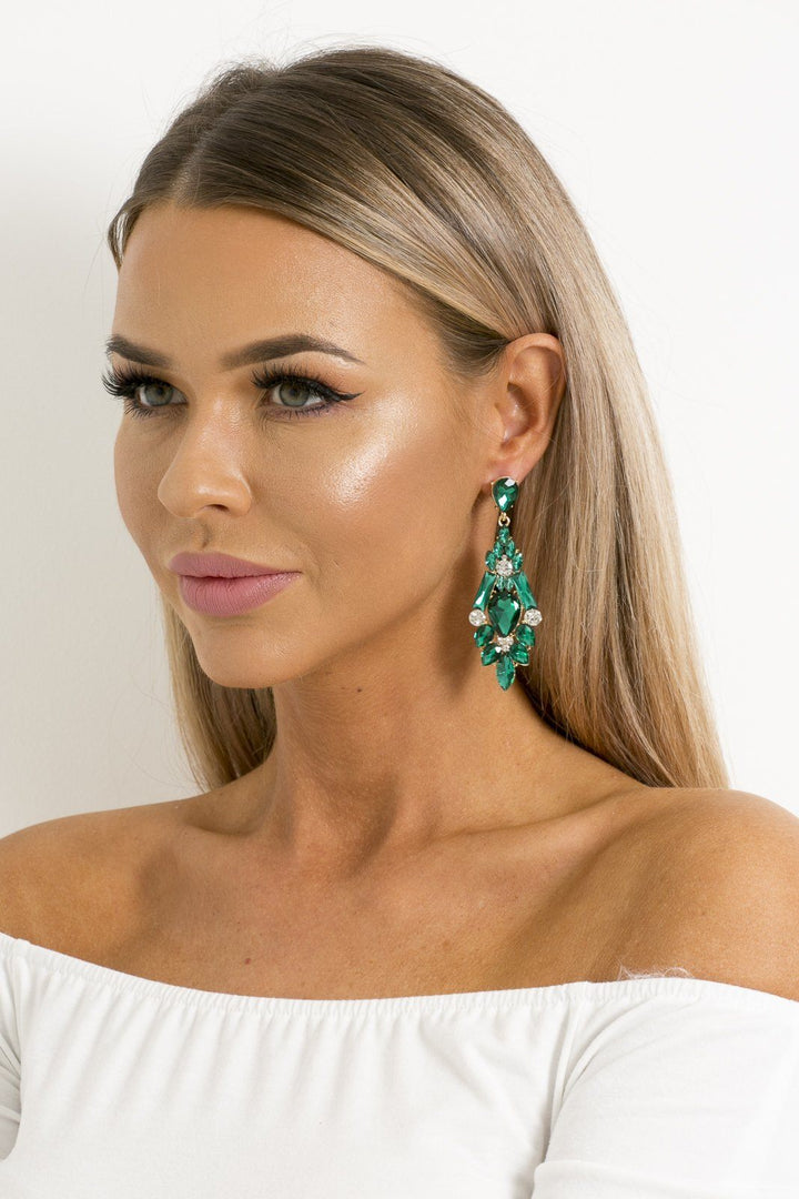 Zoe Earrings in Emerald