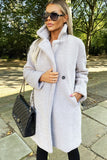 Charlotte Teddy Coat in Light Grey