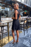 Elise Lace Dress in Black