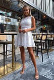 Elise Lace Dress in White