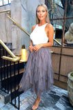 Ellen Tulle Skirt in Charcoal One Size