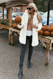 Lola Faux Fur Jacket in White