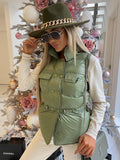Gracie Fedora Hat in Khaki