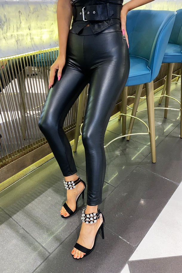 Lara Faux Leather Leggings