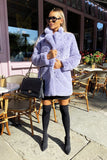 Lola Faux Fur Jacket in Lilac