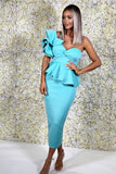 Michelle Bardot Midi Two-Piece in Teal