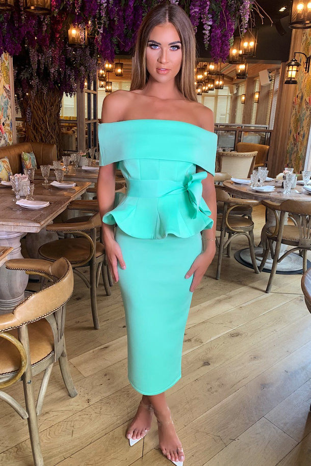 Tammy Bardot Midi Two-Piece Mint