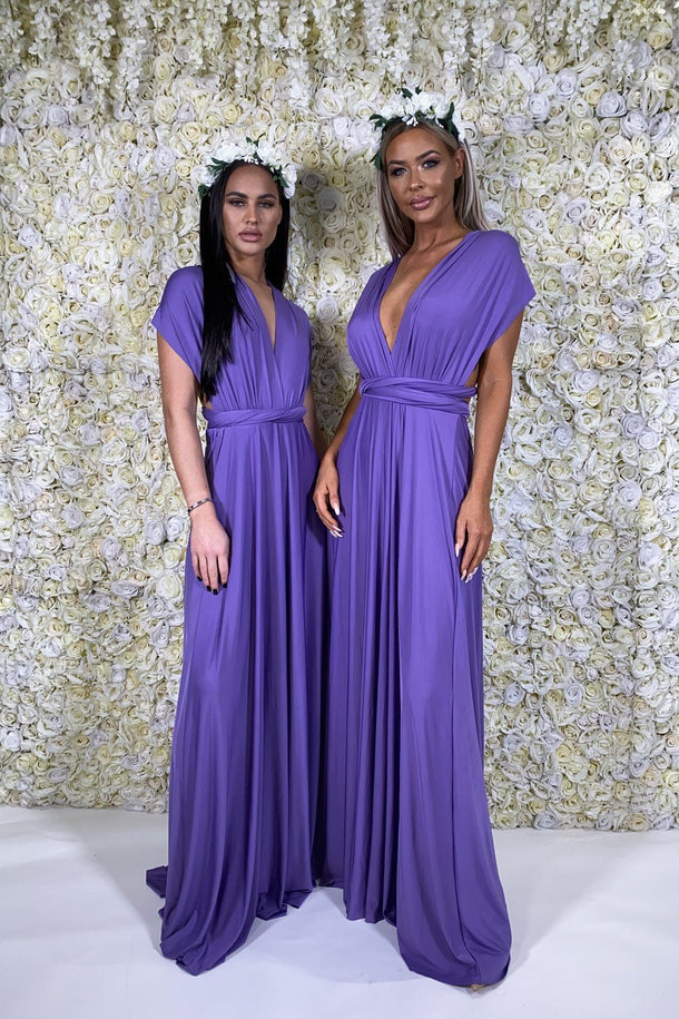 Multiway Dress in Purple