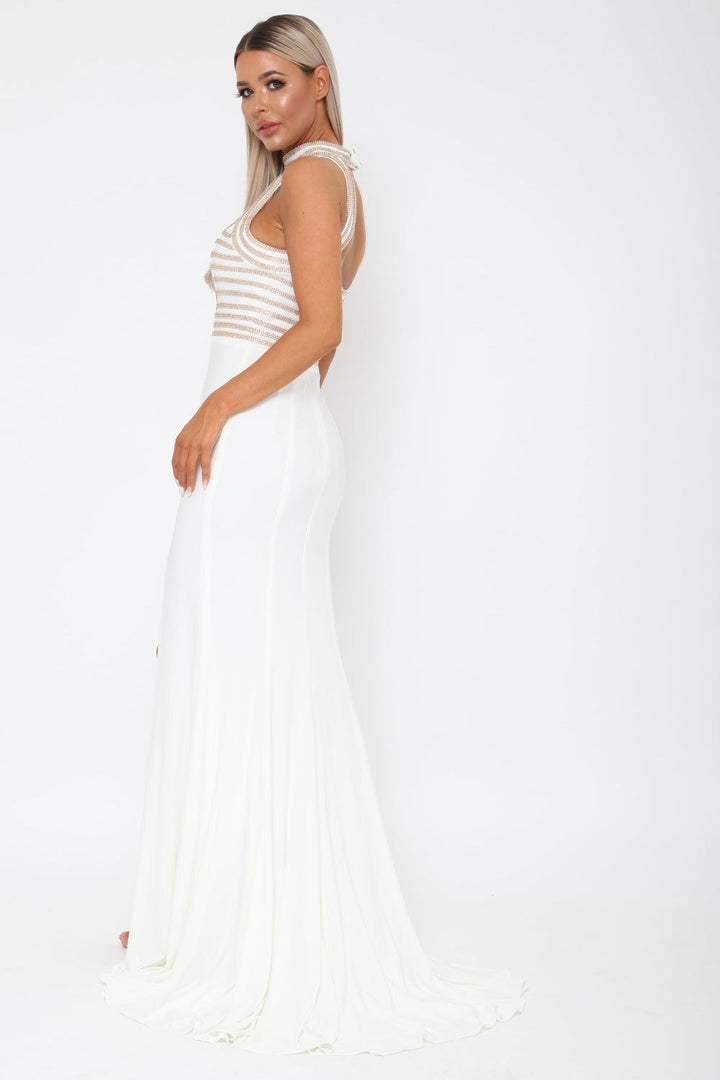 Samanta Long Gown in White