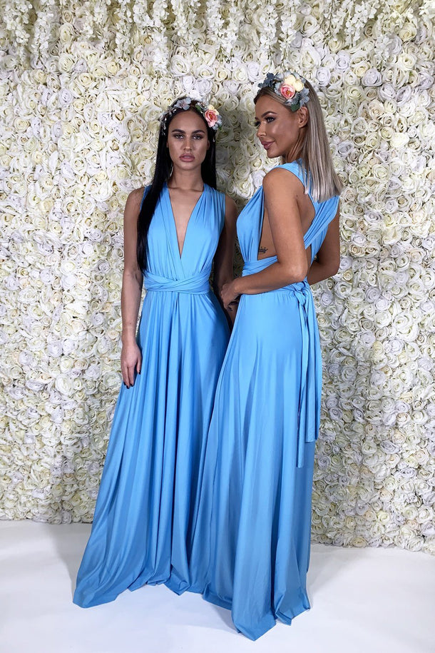 Multiway Dress In Sky Blue