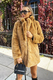 Lola Faux Fur Jacket in Tan