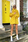 Lola Faux Fur Gilet in Yellow