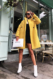 Charlotte Teddy Coat in Mustard