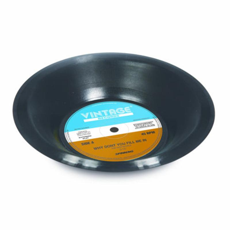 Retro Vinyl Bowl Top
