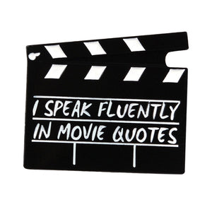 """Movie Quotes"" Clapperboard Enamel Pin"