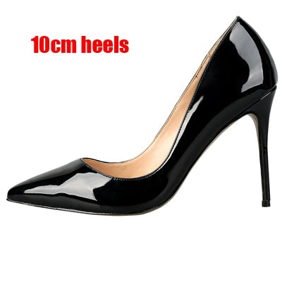 Leather High Heel Pumps