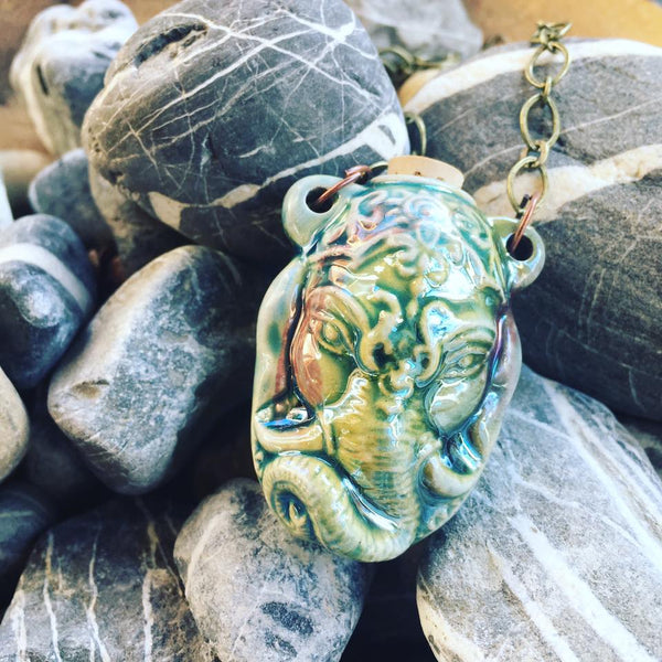 """Lightning in a Bottle"" Bottle Necklace - Ganesha"