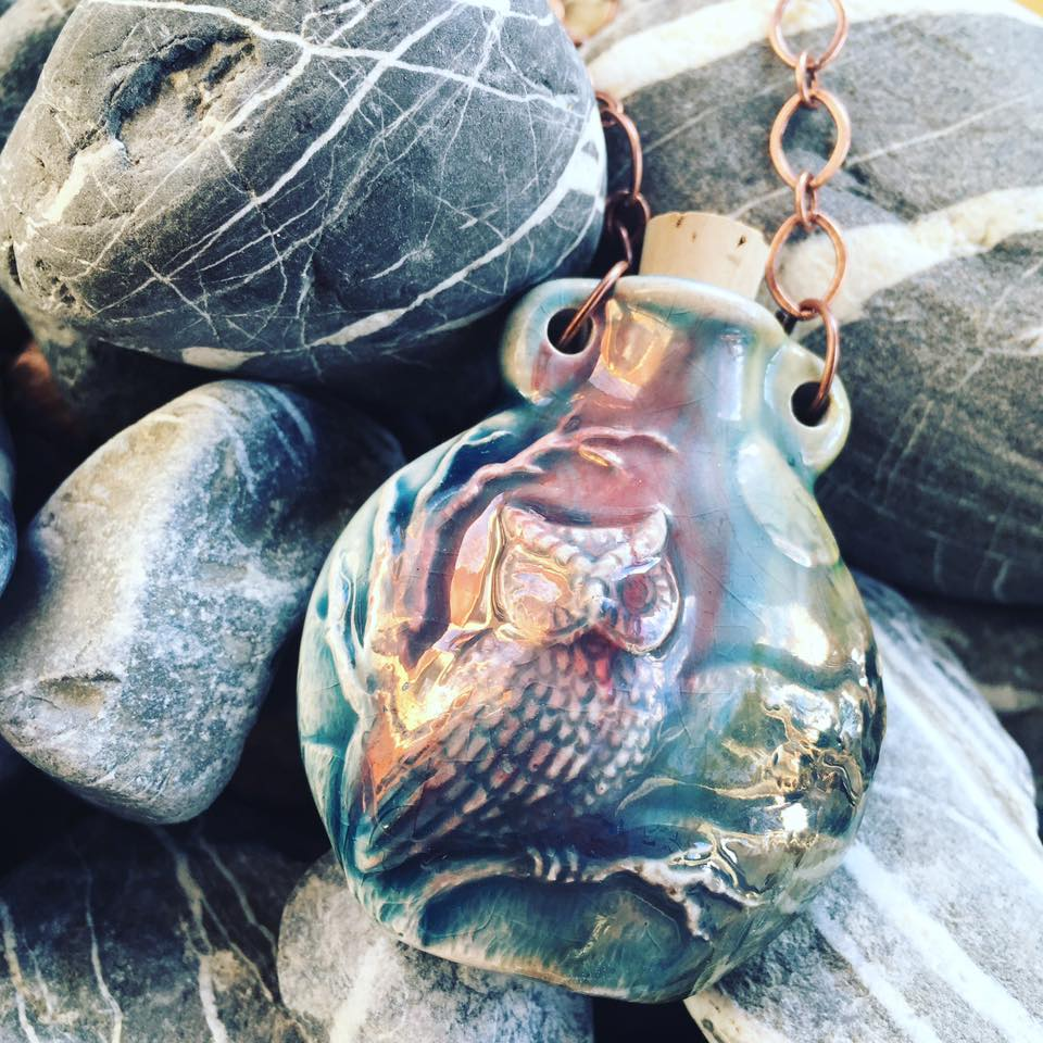 """Lightning in a Bottle"" Bottle Necklace - Owl"