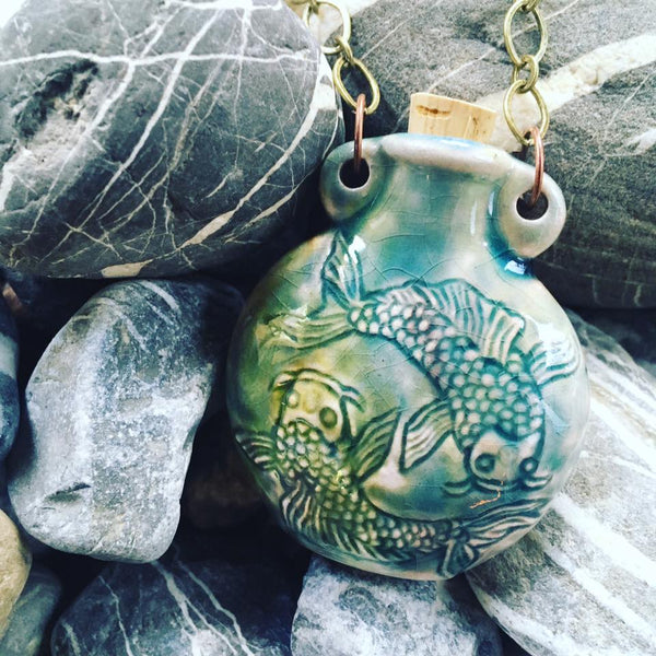 """Lightning in a Bottle"" Bottle Necklace - Koi"
