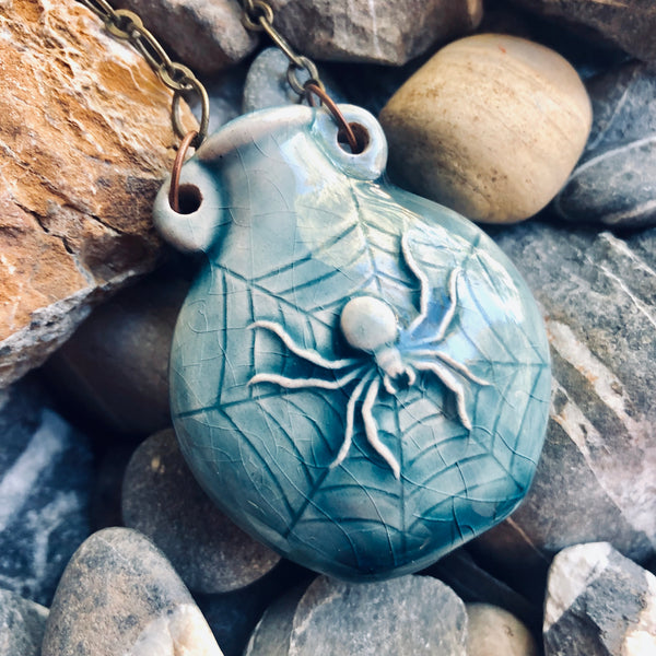 """Lightning in a Bottle"" Bottle Necklace - Spider"