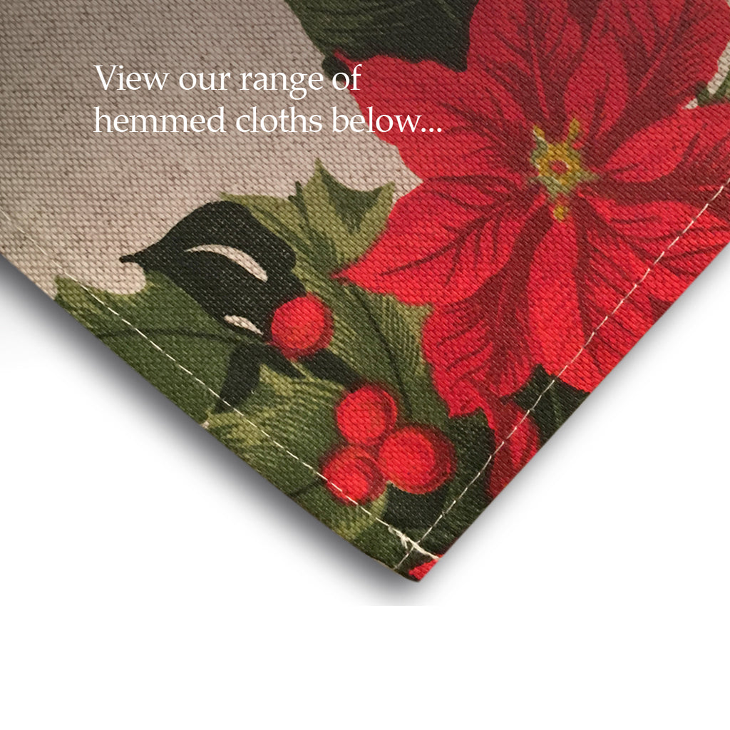 Hemmed cloths now available - More selections for 2019!