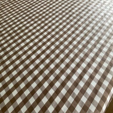 Coffee Check Extra Wide 180cm Wipe Clean Acrylic Tablecloth