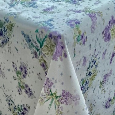 Floral Butterfly 184cm Extra Wide Wipe Clean Acrylic Tablecloth