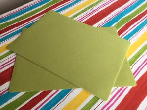 Green  Place Mat 30cm x 43cm ( sold in pairs)