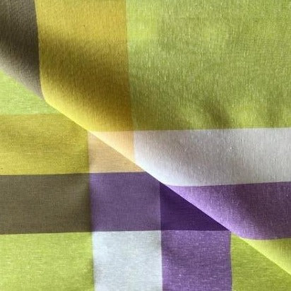 Bright Multi Check 140cm Wipe clean Acrylic Tablecloth