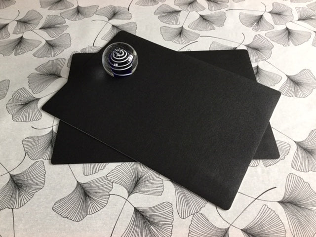 Black Place Mat 30cm x 43cm ( sold in pairs)